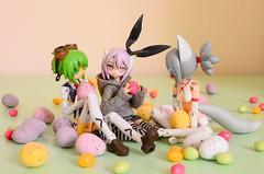Happy Easter! (AeroHail) Tags: busoushinki renge konami shinki mms anime figure 蓮華 武装神姫 busou toyphotography パーティオ partio maochao マオチャオ