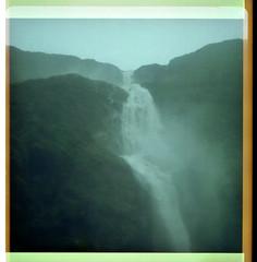Sutherland falls, Fiordland (jasoux) Tags: milfordtrack misty waterfall instamatic mountains mountainstream fiordland fiordlandnationalpark sutherlandfalls hiking tramping analogue bushwalk bush forest wilderness outdoors nz newzealand