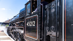 45212 Winchfield 05 April 2016 (14) (BaggieWeave) Tags: winchfield hampshire southwestmainline lswr black5 blackfive 45212 460 cathedralsexpress steam steamengine steamlocomotive steamtrain