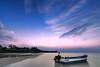 GORE (Lemuel Montejo) Tags: landscape beach shore bohol panglao boat man human sky clouds water