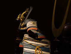 #99 Daimyo Helmet detail (tokyobogue) Tags: 365project tokyo japan shinjuku nikon nikond7100 d7100 sigma sigma1750mmexdcoshsm samurai armour decoration military helmet protection colours