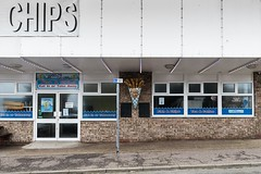 Chips (Number Johnny 5) Tags: tamron d750 nikon doors restaurant shop chippy windows mundane lights space seasonal urban imanoot banal takeaway closed disymmetry 2470mm cafe bleak documenting signs johnpettigrew seaside
