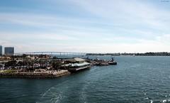 Coronado Bridge from USS Midway  [EXPLORED 4/9/18, highest position #193] (zeesstof) Tags: zeesstof california sandiego vacationdestination vacation photographyassignment museum ussmidway aircraftcarrier usnavy cv41