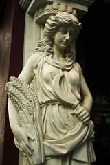 Sickle (sofiainspace) Tags: statue marble sickle wheat woman art
