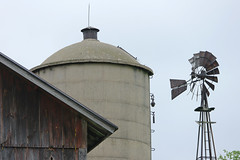 the Three Musketeers (WORLDS APART PHOTO) Tags: windmills windmillwednesday wisconsin scwisconsin albany albanywi barn silo agriculture farming trio sky outdoors countryside