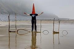 I'm a  man you don't meet everyday (pauldunn52) Tags: ho reflection art beach wet sand paul mad