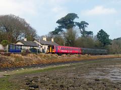 153325 & 150246 Lelant (Marky7890) Tags: gwr 153325 class153 supersprinter 2a16 lelant railway cornwall stivesbayline train 150246 sprinter class150