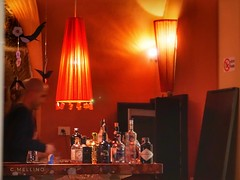 Calda atmosfera... (clausterrible) Tags: drinks pub oldtown red light bottles sonya5100 alpha5100 sony sardinia