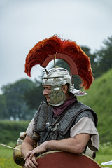 Romans (Crisp-13) Tags: english heritage old sarum salisbury wiltshire clash romans helmet plume roman