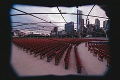 Millennium Park Concert Seats (Jovan Jimenez) Tags: eos t2 tokina 1116mm fuji superia 1600 f28 atx 116 slr 300x fujifilm fujicolor lines chicago millennium park concert seats fullframe canon plustek opticfilm 8200i film apsc analog