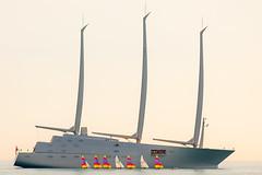 Yacht A & Sails (Kevin Lee Miller) Tags: ship yacht antibes super sailing billionnaire