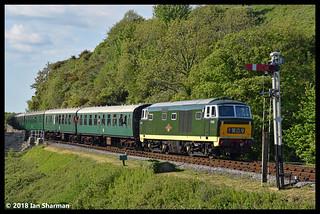 No D7017 13th May 2018 Swanage Railway Diesel Gala