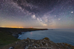 Milky Way at Kyance Cove (James Etchells) Tags: cornwall kernow milky way astrophotography nightscapes seascapes sea ocean water landscape landscapes night sky colour color outdoor outdoors kyance cove lizard peninsula stars coast coastal photography south west uk england britain nature natural world