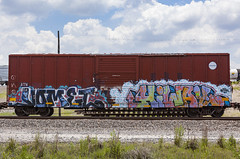 (o texano) Tags: houston texas graffiti trains freights bench benching vomet highway