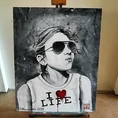 Portrait (marusaart) Tags: acryl acrylic portrait malerei painted painting marusaart künstler kunst artist art