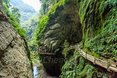 Chongqing-180129-121 (Kelly Cheng) Tags: asia china chongqing longshuicanyon longshuixiafissuregorge northeastasia southchinakarstwulongkarstunescoworldheritagesite unescoworldheritagesite wulong wulongkarstnationalgeologypark canyon color colorful colour colourful day daylight gorge karst landscape nature nopeople nobody outdoor river tourism travel traveldestinations water 武隆喀斯特 龙水峡地缝