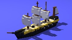 HMIS Victorious (GBDanny96) Tags: lego moc sailing sail ship military frigate battleship navy british hmis victorious