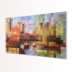 """False Creek Dock"" (stevefortier19) Tags: painting original art abstract artist canadian"