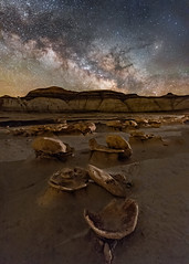 Eggshells and Cracked Eggs (Wayne Pinkston) Tags: eggshell crackedeggs alieneggfactory bits badlands hoodoo night nightsky nightlandscape sky nightphotography lightcrafter lightcraftercom waynepinkston waynepinkstonphotocom stars starrynight milkyway mulkyway galaxy cosmos astrophotography landscapeastrophotography wideangle nikon
