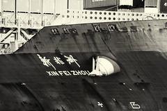 Xin Fe Zhou (PAJ880) Tags: xin fe zhou container ship boston ma bw mono