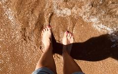 9deg c....😱 x (shona.2) Tags: shadows legs nailpolish wet paddling splashing sand female gullane eastlothian scotland heatwave summer sea waves feet toes