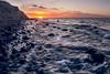 Sonnenuntergang Brodtener Steilufer (LB-fotos) Tags: water wasser wellen baltic sea ostsee stones sunset sonnenuntergang coast küste beach sun nature natur waves ocean