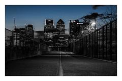 Canary Wharf... (mariolka3) Tags: modernarchitecture architecture england clouds path money londonfans walkaround capital gb uk nikkor2470 nikon bluehour sunset bluesky blue sky financialdistrict city london