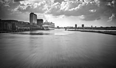 SPEED (bert • bakker) Tags: harbour harbor haven amsterdam thenetherlands nederland water cruiseboat cruiseboot horizon wolken clouds nikon24mm28d blackwhite zwartwit