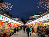 Nakamise Shopping Street (josefrancisco.salgado) Tags: asakusa japan nakamiseshoppingstreet tokyo azul blue bluehour crepúsculo evening iphone8plus night twilight taitōku tōkyōto jp