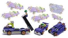 Jokermobiles (KEEP_ON_BRICKING) Tags: lego set 70906 custom design moc mod joker batman
