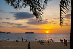 Patong beach at sunset, Phuket island, Thailand