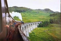 Steam to Spare at Glenfinnan September 1994. (Chris Baines) Tags: lms black five 44767 glenfinnan viaduct loch shiel jacobite mallaig fort william lochabar region scotland