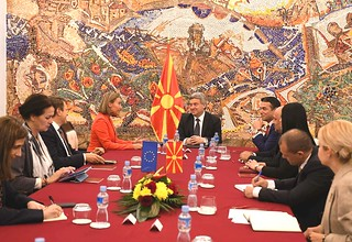 Federica Mogherini, Vice-President of the EC, visits the former Yugoslav Republic of Macedonia, April 2018
