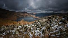 A splodge of snow.... (Einir Wyn Leigh) Tags: landscape lake wales cymru dam reservoir country walking weather outside rugged