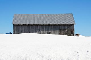 Vieille grange-étable à Mont-Lebel.