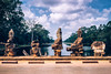Over the Moat (jameslf) Tags: angkor angkorthom bridge cambodia siemreap southgate statues temples
