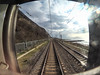 The railway from Sochi (ivan_volchek) Tags: train railway locomotive travel visiting road track traffic steel outdoors industry sky vehicle station guidance window glare railwaycarriage door landscape cloud glass railroad lines