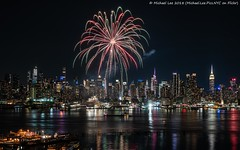 Hudson River Fireworks (20180523-DSC07081) (Michael.Lee.Pics.NYC) Tags: newyork fireworks carnivalcruiselines fleetweek hudsonriver aerial weehawken newjersey hamiltonpark night longexposure architecture cityscape reflection timessquare esb empirestatebuilding chryslerbuilding sony a7rm2 fe24105mmf4g
