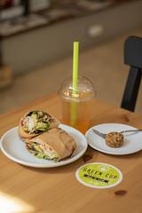 IMG_8625 (fabianamsolano) Tags: green cup cafe vegan raw coffee espresso wrap vegetables dessert happy boba tea