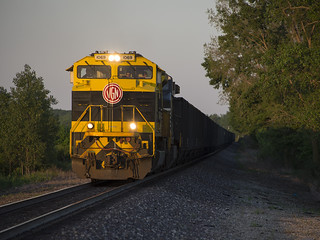 NS 856 westbound west of Arcadia, Ohio on May 25, 2018