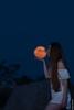 Kiss the Moon (barak.shacked) Tags: female orangemoon ירחמלא woman kiss love redhead womanandamoon moonrise fullmoon moon alone אישהוירח redhair whitedress