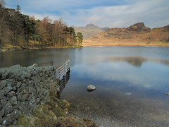 """Blea Tarn (Say """"Wasabi"""") Tags: bleatarn tarn cumbria water lake reflections scenery landscape olympus m43 lakedistrict fells colours nature trees wall stone fell"""