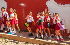 Cuba-131125-466 (Kelly Cheng) Tags: cuba northamerica trinidad unescoworldheritagesite boys children color colorful colour colourful day daylight girls horizontal people persons red tourism travel traveldestinations vivid