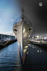Daylight turns into night (Deek Wilson) Tags: hmscaroline daytime nighttime ship destroyer battleofjutland worldwarone ww1 belfast northernireland landmark moon