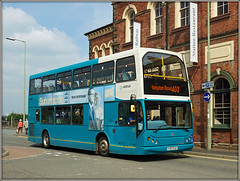 Arriva Midlands 4707 (Jason 87030) Tags: arrive midlands border oswestry 403 station railway building architecture daf east lancs bodied body doubledecker x707xjf 4707 blue turquoise wheels may 2018 photo photos pic pics socialenvy pleaseforgiveme picture pictures snapshot art beautiful picoftheday photooftheday color allshots exposure composition focus capture moment