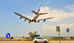 A6-EEB at BCN (LEBL) (M McBey) Tags: barcelona elprat airport emirates airbus a380 doha landing finals