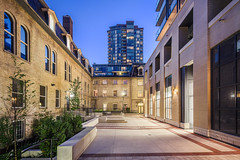 Post House Condominiums - Courtyard (1) (Michael Muraz Photography) Tags: 2015 canada northamerica on ontario posthousecondominium toronto world architecture building city commercial condo condominium court courtyard dusk heritage realestate town twilight ca