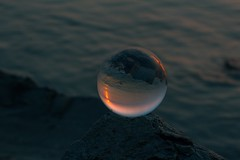 A little colour heading into the weekend 🌞 hope you like it 😊 (ibtihajtafheem) Tags: lensball lensballphotography crystalball crystalballphotography glassball sunset dark tones sunsets sunrise