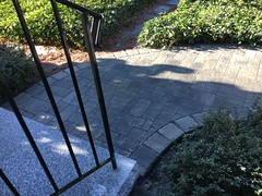 Granite steps with paver walkway