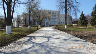 This is a square in the historic center of Cheboksary